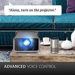 Viewsonic X10-4K UHD Heimkino LED Beamer (4K, 2.400 Lumen, Rec. 709, HDR, 2x HDMI, USB, USB-C, WLAN Konnektivität, Bluetooth, SD-Kartenleser, 2x 8 Watt Lautsprecher) anthrazit-metallic