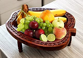 wooden apple bowl