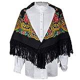 Daquela Modelo Tui - Pañuelo o mantón para mujer (Negro)