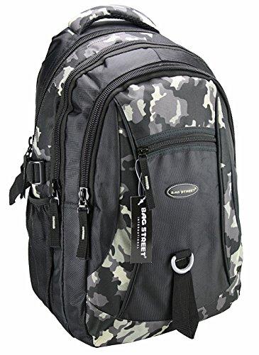 Rucksack, Schulrucksack, Sporttasche, Freizeitrucksack, City Rucksack, Arbeit, Sport, Schule, Uni, Freizeit (Camouflage)