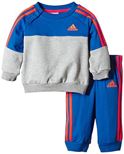 adidas Baby Jogginganzug Crew, Grau/Blau/Rot, 80