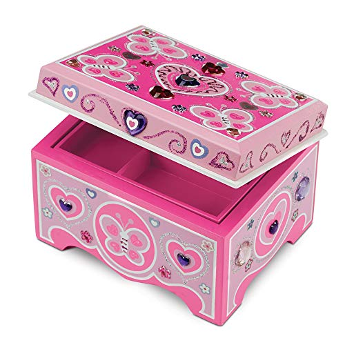 Melissa & Doug Created by Me! Jewelry Box Wooden Craft Kit - The Original (Great Gift for Girls and Boys – Best for 4, 5, 6, 7 and 8 Year Olds)