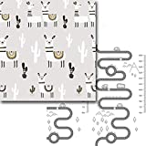 Spielmatte Baby, Groß Krabbelmatte Baby, Doppelseitig Faltbar Krabbeldecke for Baby, wasserdichte rutschfest Babydecke Spielmatten (Size : 197 * 175 * 1cm)