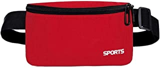 YWSCXMY-AU Fanny Pack Colorful Unisex Waist Pack Female Belt Bag (Color : Red)