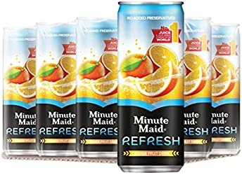 Minute Maid Refresh Orange Cans, 12 x 300ml