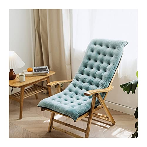 LLLD Furniture Patio High Seat Back Chair Cushion For Rocking Chair Jumbo Thick Padded Chaise Lounger Swing Bench Cushion Recliner(Does Not Include Chairs) (Color : Blue, Size : 100 * 40 * 8cm)