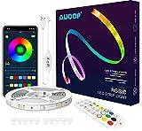 AUOOP Dreamcolor LED Streifen 10M, Dimmbar Lichterkette Musik Sync und APP Steuerung RGBIC Strip mit...