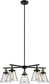briarwood 38 in. 5-light antique bronze chandelier
