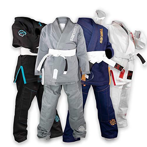 Sanabul Future Legend Kids Brazilian Jiu Jitsu BJJ Gi (Silber/Weiß, K2)