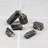Natural Black Tourmaline Pendant Charm Black Tourmaline Necklace Rock Mineral SpecimenStoneDIY Ornaments-Black Tourmaline_1PC