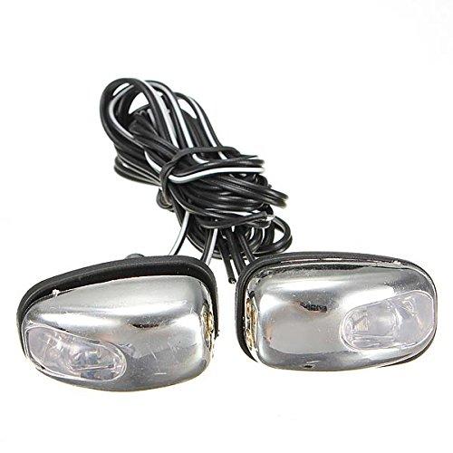 C-Funn chroom-LED-lamp, windscherm, jetspray, ugolinie, ogen, wasmachine azzurro