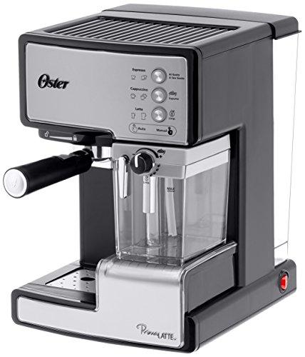 Oster Prima Latte - caffè espresso con la lavorazione del latte, alimentazione 15 bar (argento)