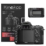 kinokoo Película de Vidrio Templado para Nikon D7500 Crystal Clear Film Protector de Pantalla Nikon D7500 con Protector de Pantalla Superior (Paquete de 2)