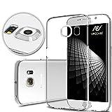 Urcover Funda Compatible con Samsung Galaxy S6 Edge Plus Carcasa Protectora Trasero Protector de Cámara Cover Silicona Ultra-Delgada Suave Back Case - Transparente