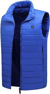 Honestyi Heated Sleeveless Vest Washable USB Electric Heating Clothes Winter Unisex Warm Gilet for Fishing Hunting Hiking ...