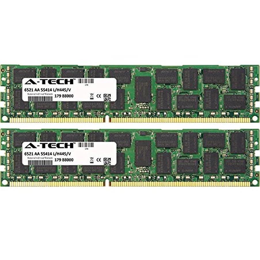64GB KIT (2 x 32GB) for Dell PowerEdge Series M820 R320 (ECC Registered) R415 (ECC Registered). DIMM DDR3 ECC Registered PC3-10600 1333MHz Single Rank RAM Memory. Genuine A-Tech Brand.