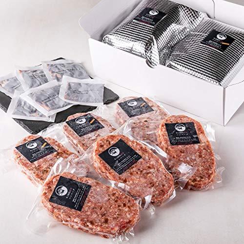 贈り物 包装 bonbori 究極のひき肉で作る 牛100% ハンバーグ 詰め合わせ 6個入り 各200g [プレーン×3・チーズ入り×3] 無添加 / 冷凍ギフト/ お取り寄せ / ぼんぼり (ギフト包装6個)