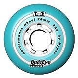 HYPER Des Rueda P. Fitness Bullzeye76-82A 4Ud patín Patinaje, Adultos Unisex, Azul (Cyan), 76mm/82a
