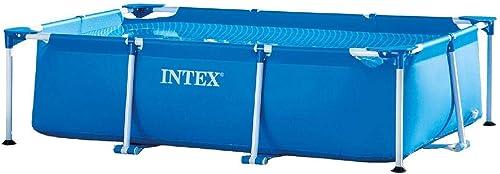 wholesale Intex discount 8.5' x 5.3' x 2.13' Rectangular Frame online sale Above Ground Backyard Swimming Pool sale