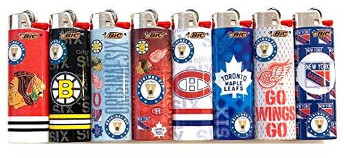 Bic Lot de 8 briquets originaux NHL