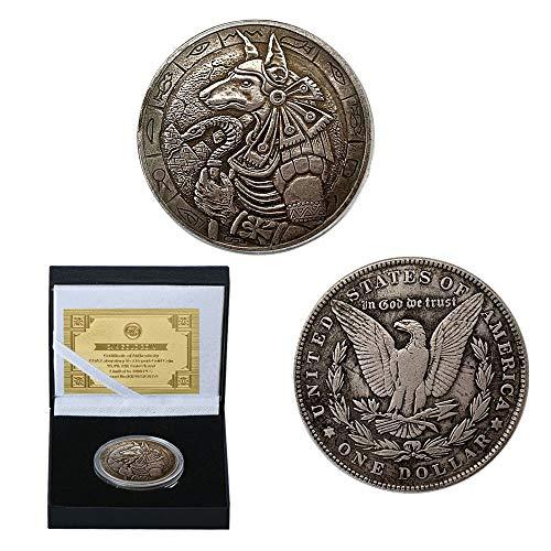 1921,Cráneo,Demonio,Alivio,Monedas Conmemorativas,1935,Búhos,Arañas