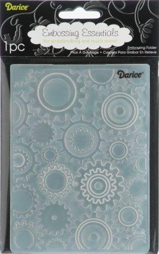 Darice Carpetas de estampación, Plantilla Engranajes, Plastic, 10,8 x 14,6 cm