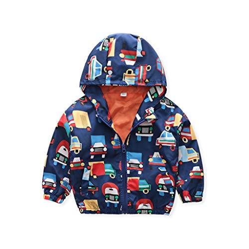 sunnymi - Abrigo para bebé niño y niña, de 1 a 6 años, diseño de dinosaurio, animal, con capucha, resistente al viento H 2-3 Años