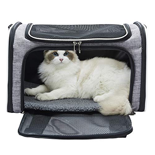 pettall Airline Approved Cat Carriers Soft Sided Travel Carrier for Small Medium Cats