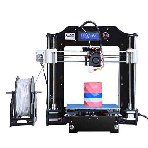 ALUNAR aggiornato stampante fai da te Desktop 3D RepRap Prusa Kit i3, alta precisione auto-assemblaggio tridimensionale FDM stampante, Multicolor Printing Machine-EU
