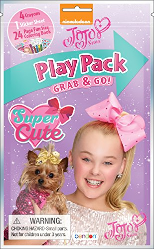 Bendon JoJo Siwa 24-Page Coloring Play Pack 42844,, One Size