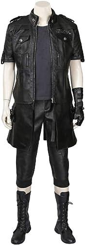 Final Fantasy 15 Cosplay Anime cos Autour des vêteHommests Manteau t-Shirt en Cuir Bottes Cosplay Costume personnalisé Femme Adulte HalFaibleeen Costume,noir-XS(153to157)