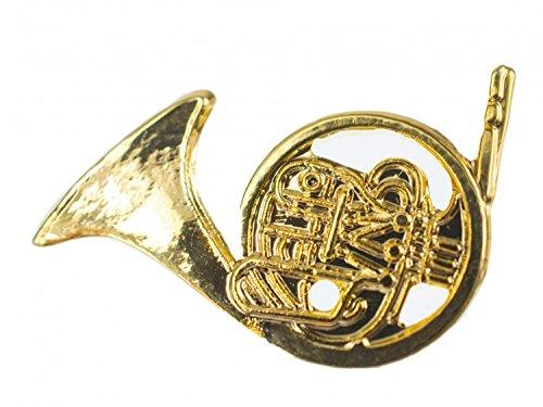 Miniblings Waldhorn Brosche Pin Anstecker Blasinstrument Orchester Horn gld Mini - Handmade Modeschmuck I Anstecknadel Button Pins
