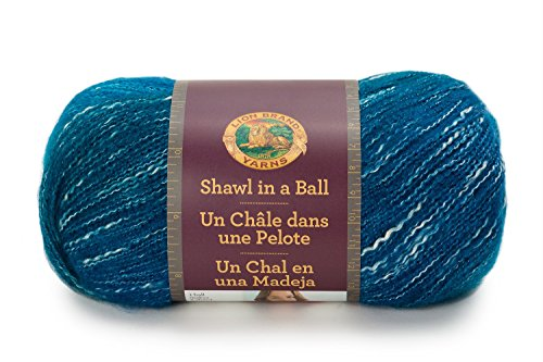 Lion Brand Yarn 828-204 Shawl in a Ball Yarn, One Size, Healing Teal