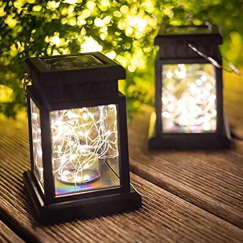 Solar LightsOutdoor Lantern Decorative - Solar Lanterns Outdoor Hanging (Warm White)