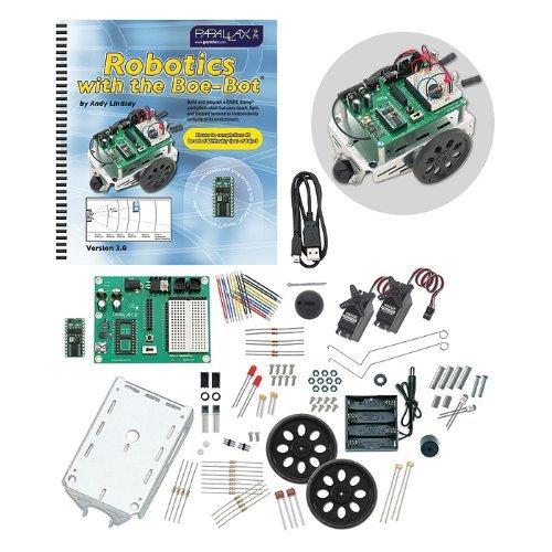 Parallax-28832 Programmable Boe-Bot Robot Kit - USB Version (non-solder) by Parallax