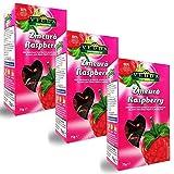 Vedda, Te Frambuesa (100+ Tazas de Té) Raspberry Tea, 100% Enteras Frutas y Hojas, Hibisco, Manzana, Rosa Mosqueta, Espino   Rico, Rejuvenecedor, (Paquete de 3, Total 225g)
