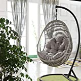 Supicity Swing Hanging Basket Seat Cushion 90x120cm, Thicken Hanging Egg Hammock Chair Pads Seatswinging Cushion Cushioning for Home Patio Garden