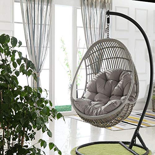 Exuberanter Swing Hanging Basket Sitzkissen, Thicken Hanging Egg Hängematte Stuhlkissen, Hanging Chair Pad Für Patio Garden, 120x90CM, Hinweis: NUR Kissen, KEIN Stuhl;