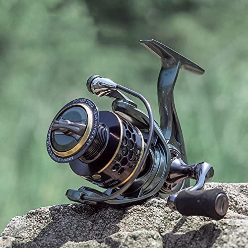 LXRZLS Todo Carrete de Pesca de Metal JH3000 4000 Spinning Carrete de Agua Salada Pesca de la Carpa carretes de Bobina Carrete de Giro Libre del Metal del Carrete de Repuesto