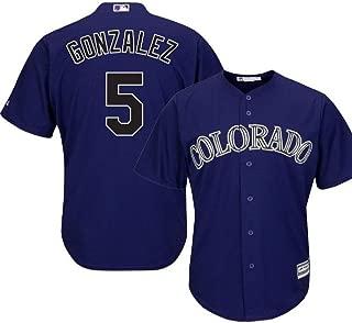 Outerstuff Carlos Gonzalez Colorado Rockies MLB Majestic Youth 8-20 Purple Alternate Cool Base Replica Jersey (Youth Medium 10-12)