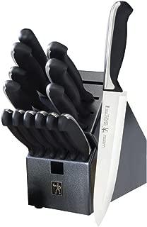 J.A. Henckels International 15700-000 Fine Edge Synergy Knife Block Set, 15 Piece, Black