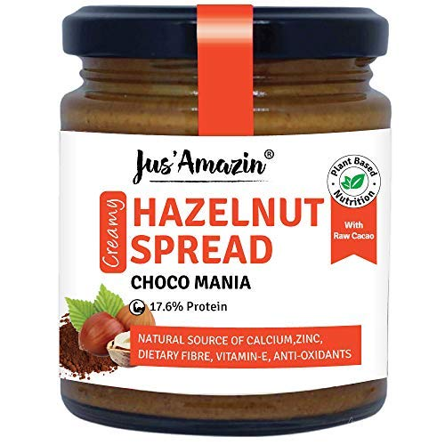 Creamy Hazelnut Spread (200g), 18% Protein, Plant-Based Nutrition, 80% Nuts, Zero Additives, Vegan, Dairy Free, 100% Natural