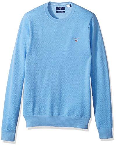 GANT Herren Pullover Cotton Pique Crew blau (51) XXXL