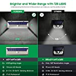 VOSONX Solar Lights Outdoor - 126 LEDs Solar Powered Security Lights, Wireless Light Sensor & Motion Sensor Light, IP65 Waterproof Outdoor Wall Lights with 270° Wide Angle for Front Door, Garage, Yard Brighter and Wider Range with More Lumens
