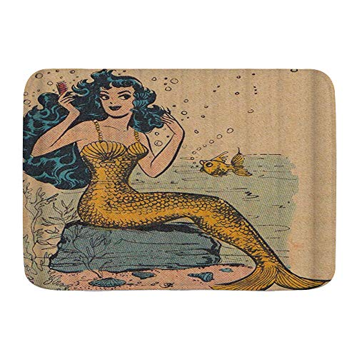 Beautiful Mermaid Bath Mat