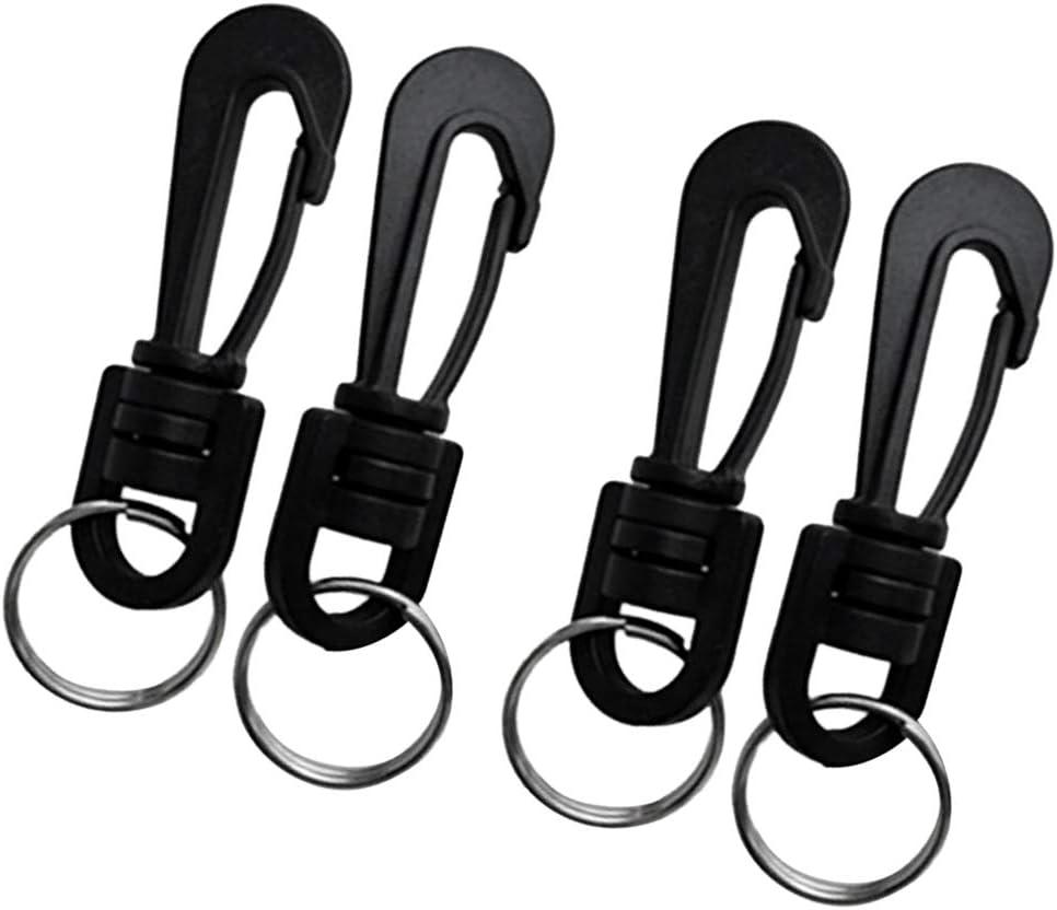 Baosity 4 Pieces Plastic Oakland Mall Swivel Hooks Split Keychain Time sale Snap Rings
