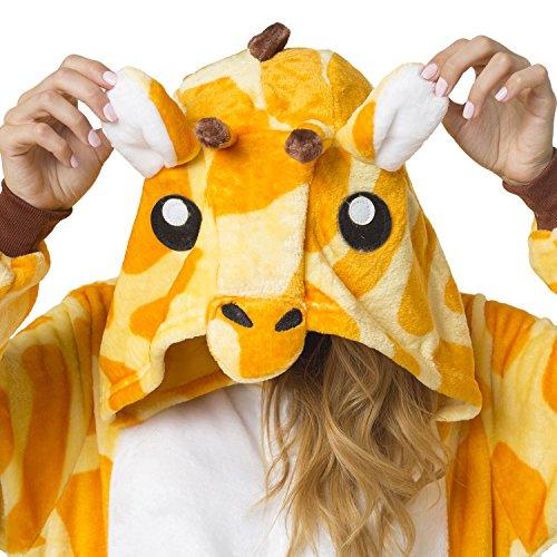 Katara 1744 -Giraffe Kostüm-Anzug Onesie/Jumpsuit Einteiler Body für Erwachsene Damen Herren als Pyjama oder Schlafanzug Unisex - 6