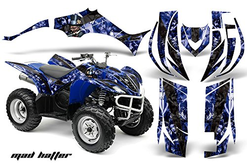 Yamaha Wolverine 450 2006-2012 ATV All Terrain Vehicle AMR Racing Graphic Kit Decal MAD HATTER BLUE BLACK
