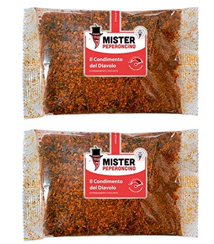 Condimento del diavolo (50 g x 2) - Mister Peperoncino - Mix in polvere di peperoncini piccantissimi