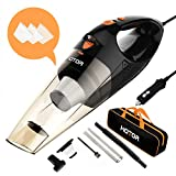 HOTOR Car Vacuum Cleaner High Power, Vacuum for Car, Best Car Vacuum, Handheld Portable Auto Vacuum Cleaner Powered by 12V Outlet of Car – Black & Red